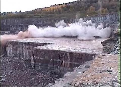Quarry Blasting Limestone
